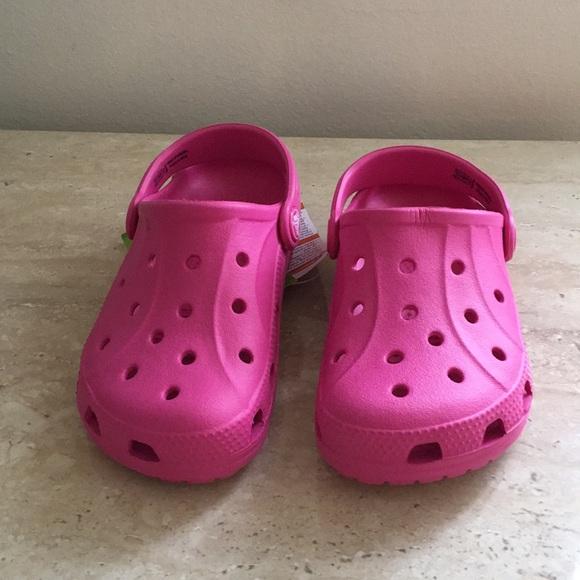 7862ce1e6aecb Pink CROCS Plastic Sandal for Kids Size 10